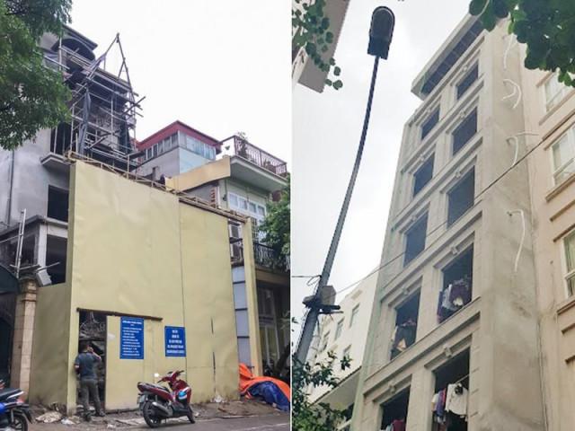 """Đổ cho """"đất vàng"""" tiền tỷ, cao ốc trung tâm Hà Nội xây vượt mặt"""