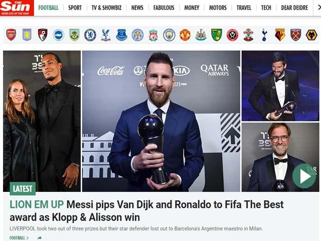 Messi ẵm FIFA The Best 2019: Báo chí ngợi ca thiên tài, lo Ronaldo hết thời
