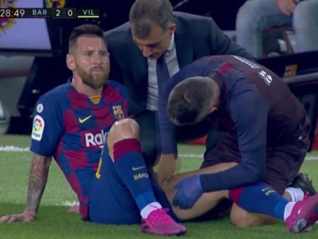 Messi lại chấn thương: Tin buồn ngày đại hỉ, Barca lo ngay ngáy cúp C1
