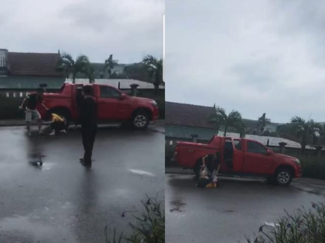 Làm rõ clip nguyên cán bộ công an đánh vợ cũ dã man giữa đường