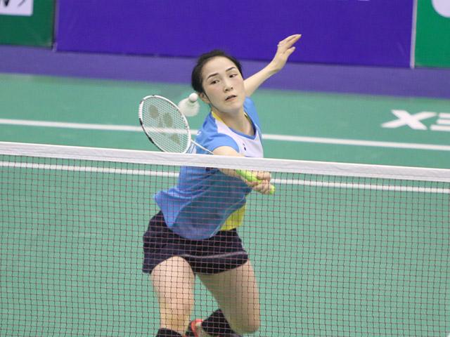 Vợ Tiến Minh nghẹt thở vào bán kết giải cầu lông quốc tế