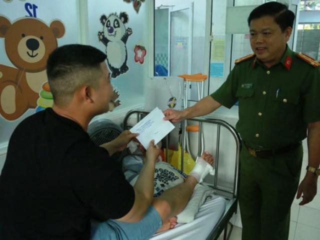 Trung úy cảnh sát đứt gân chân khi bắt kẻ bán ma túy