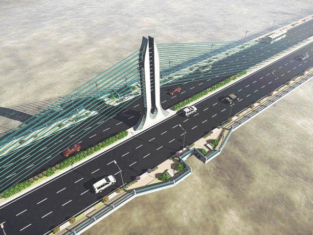 Ngắm cầu Trần Hưng Đạo vượt sông Hồng 9.000 tỷ Hà Nội đang nghiên cứu