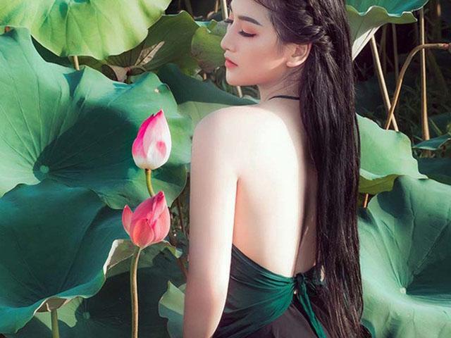 Thiếu nữ Việt đẹp như tiên sa, duyên dáng hút mắt bên sen mùa hạ
