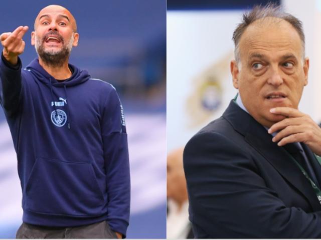 """Man City trút giận, muốn kiện Chủ tịch La Liga vì bị """"bôi nhọ"""""""