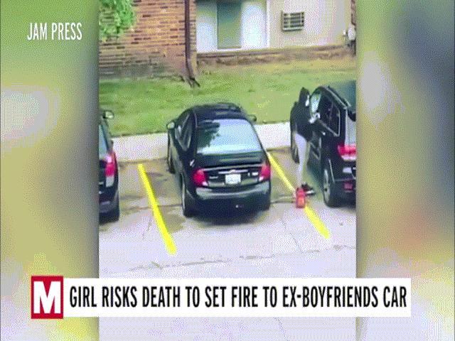 Video: Cô gái đốt xe bạn trai bên ngoài nhà nghỉ