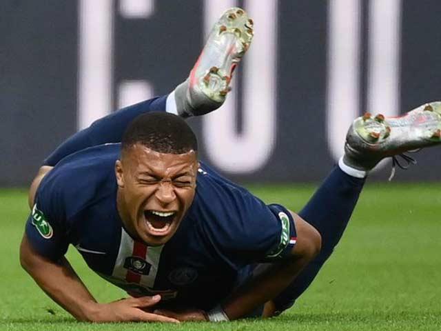 Mbappe chấn thương kinh hoàng: Vẹo mắt cá, PSG lo âu đấu Cúp C1