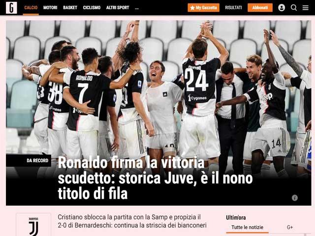 Juventus vô địch Serie A: Báo Italia tung hô Ronaldo, vinh danh chiến tích
