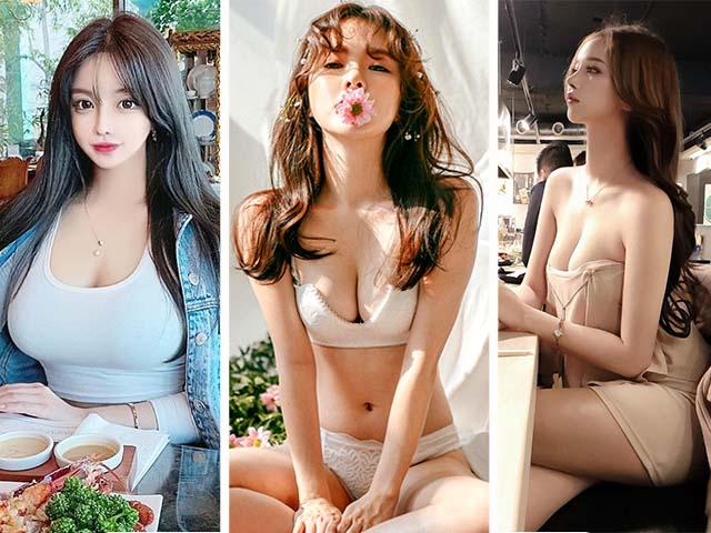 """Hot girl tung video chứng minh ngực là """"hàng"""" thật và những cô nàng siêu vòng một ở xứ Kim Chi"""