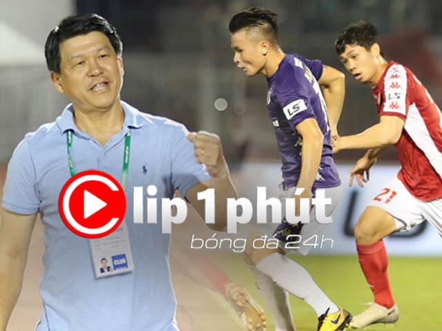 Ngã ngửa ý kiến đòi dừng luôn V-League, trao cúp cho Sài Gòn FC (Clip 1 phút Bóng đá 24H)