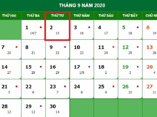 2020 là năm cuối cùng được nghỉ lễ Quốc khánh 2/9 một ngày