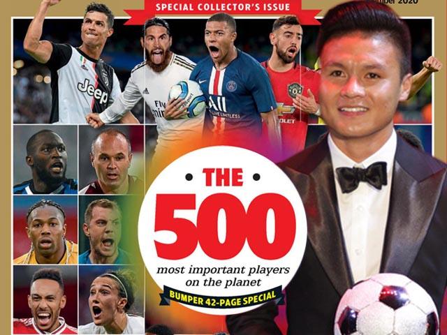 Ngỡ ngàng Quang Hải sánh vai Ronaldo, Neymar top 500 SAO hàng đầu thế giới