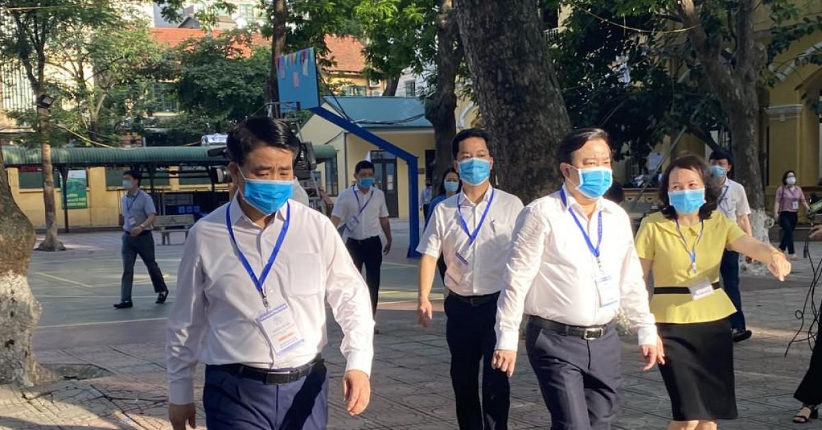 Chủ tịch Hà Nội đề nghị xét nghiệm lại PCR cho 3 thí sinh ở điểm thi Phan Đình Phùng