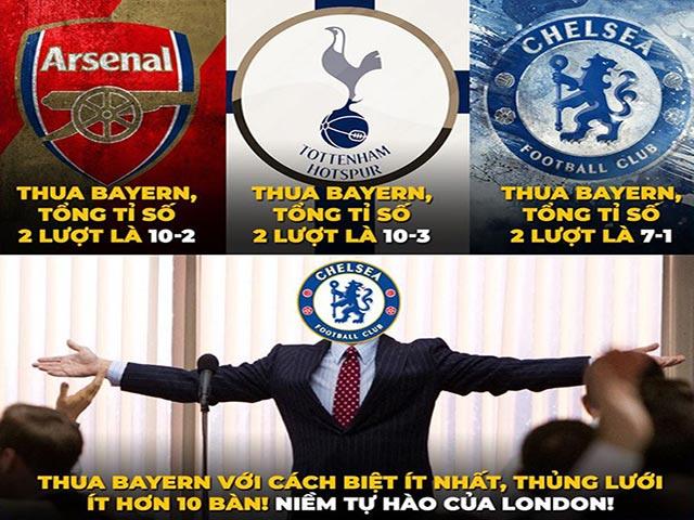 Ảnh chế: Chelsea là niềm tự hào của London khi đối đầu với Bayern Munich