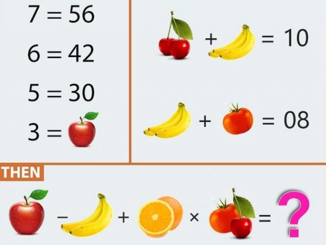 Đọ tài giải toán với câu đố trái cây 3 trong 1