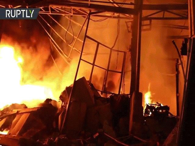 """Video hiếm về hiện trường """"như tận thế"""" ở tâm vụ nổ Liban"""