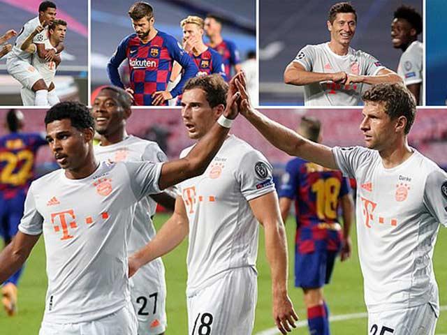 Địa chấn Cúp C1: Messi ôm đầu nhìn Bayern hủy hoại Barca 8-2