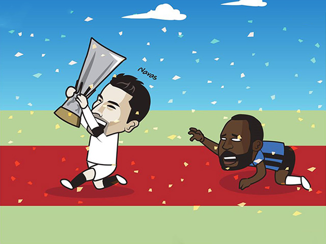"""Ảnh chế: Lukaku hóa """"tội đồ"""" khiến Inter Milan mất cúp vô địch"""