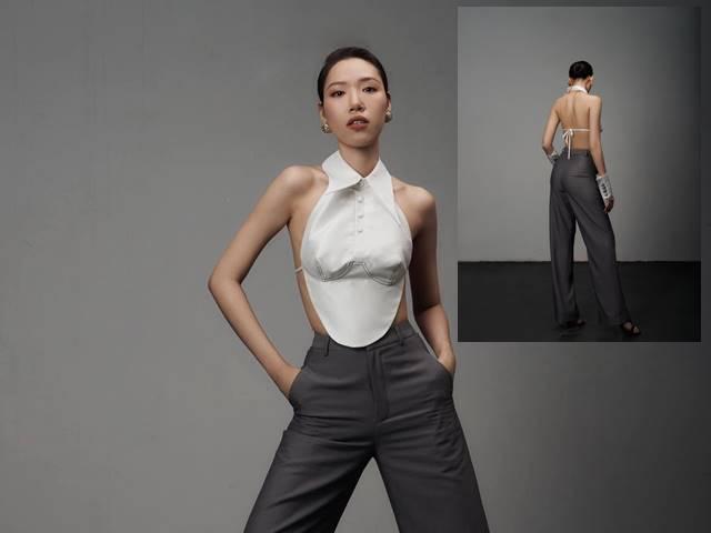 Áo yếm thiên nga của nhà thiết kế có body gợi cảm nhất làng mốt Việt