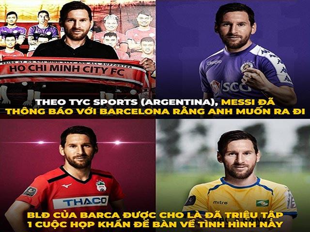 Ảnh chế: Các đội bóng V-League cũng gia nhập cuộc đua chiêu mộ Messi