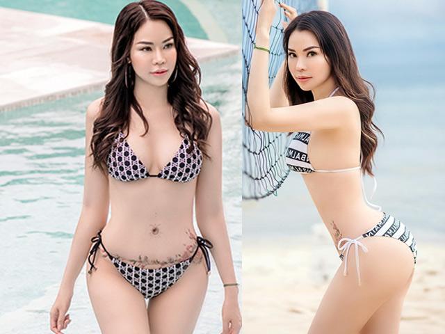 Vợ siêu mẫu khoe thân hình gợi cảm với bikini, con trai tỷ phú Hoàng Kiều phản ứng bất ngờ