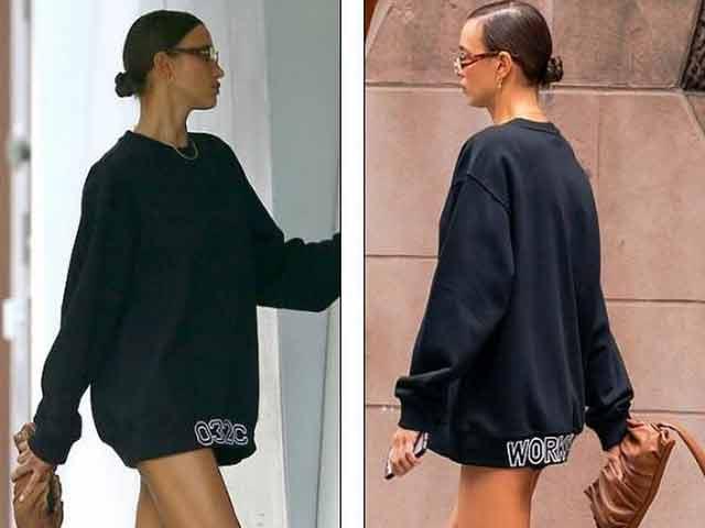 """Irina Shayk mặc đồ kỳ cục, gây hiểu nhầm là """"quên"""" quần xuống phố"""