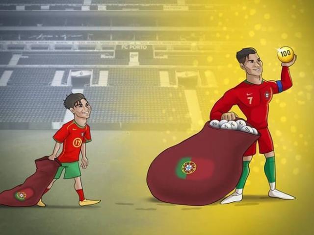 Ảnh chế: Ronaldo cán mốc 100 bàn thắng cho ĐTQG khiến cả thế giới trầm trồ