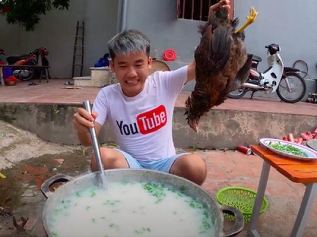 Con trai bà Tân Vlog bị xử phạt 7,5 triệu vì nấu cháo gà nguyên lông đăng YouTube