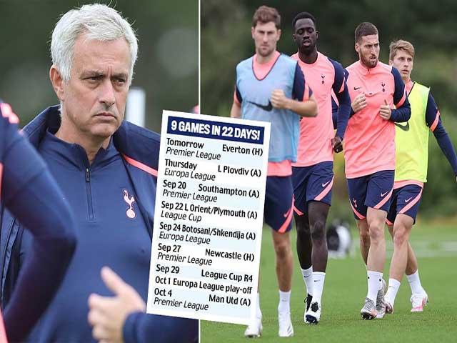 Tottenham khổ chiến 9 trận 22 ngày, Mourinho cay đắng lo bị sa thải sớm