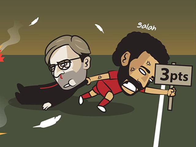 """Ảnh chế: Salah """"giải cứu"""" Liverpool trong trận đấu mở màn mùa giải mới"""