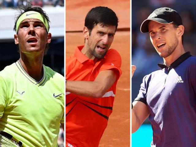 """Bảng xếp hạng tennis 14/9: Thiem """"bay cao"""", Nadal - Djokovic lo ngại"""