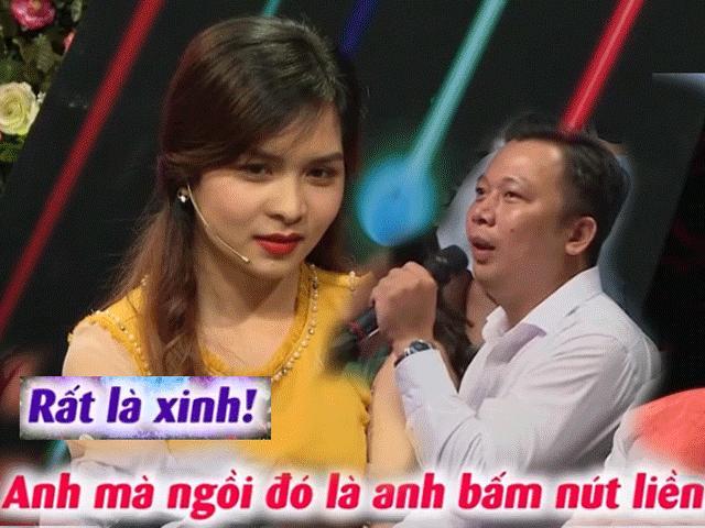 Thấy cô gái Quảng Ngãi xinh đẹp, anh sếp ngồi dưới giành bấm nút hẹn hò