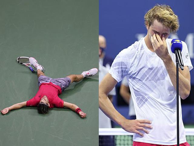 Nghẹn ngào sau chung kết US Open: Thiem vỡ òa, Zverev không ngừng rơi lệ