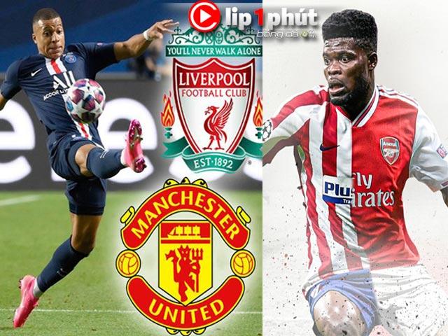 """MU định giành Mbappe với Liverpool, Arsenal tiến rất gần """"máy quét"""" Partey (Clip 1 phút Bóng đá 24H)"""