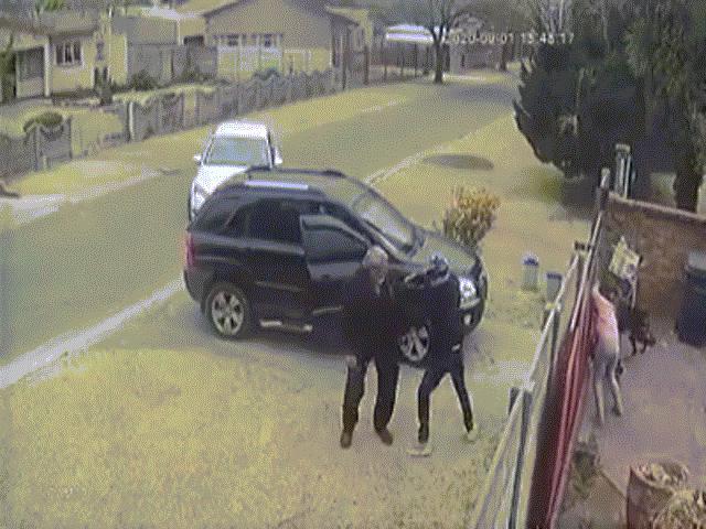 Video: Bị cướp tấn công trước cửa nhà, người đàn ông được 2 chú chó lao ra bảo vệ