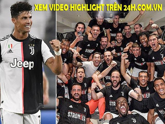 Ronaldo - Juventus quyết giữ ngôi vua Serie A, xem video highlight trên 24h.com.vn
