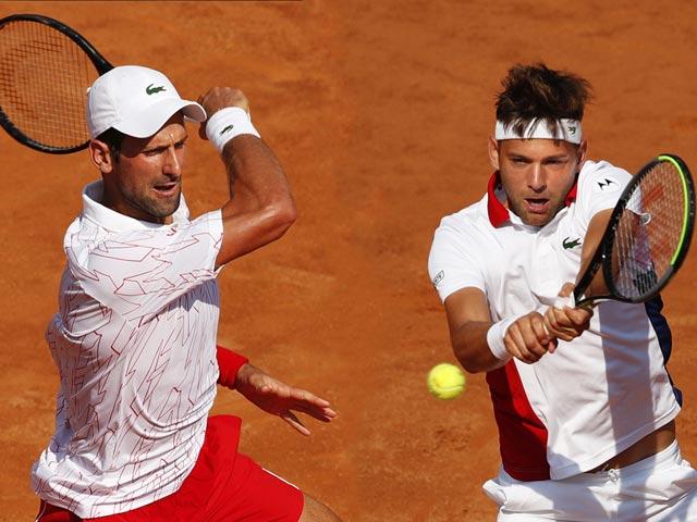 Trực tiếp tennis Djokovic - Krajinovic: Nole 2 lần ôm hận đồng hương (Vòng 3 Rome Masters)