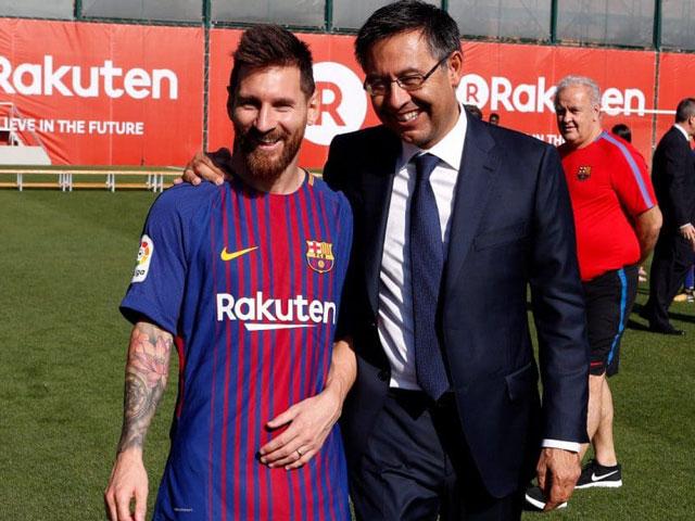 """Chủ tịch Barcelona quyết tâm không từ chức, muốn """"cầu hòa"""" với Messi"""