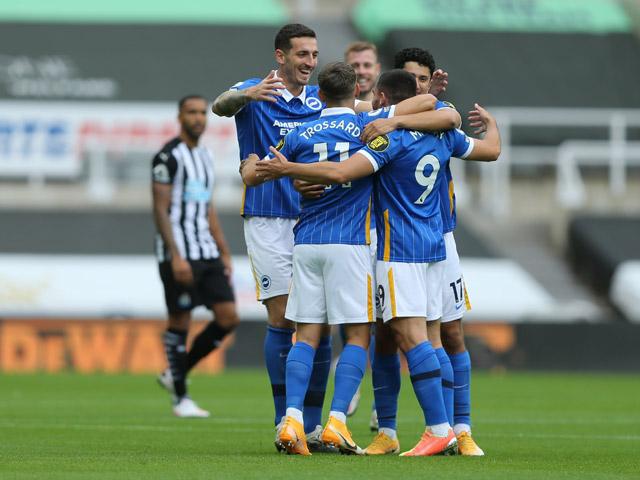Trực tiếp bóng đá Newcastle - Brighton: Chủ nhà bế tắc suốt hiệp 1