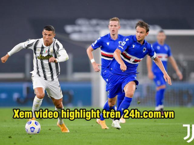 Video highlight trận Juventus - Sampdoria: Đại tiệc khai hội, Ronaldo vỡ òa phút cuối