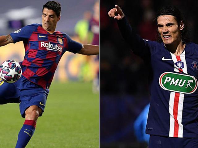 Barca thanh lý Suarez: Koeman tranh Cavani với Real, trợ chiến Messi