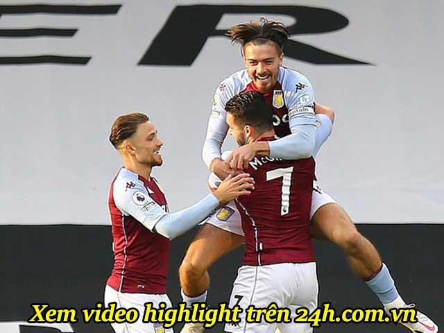 Video highlight trận Fulham - Aston Villa: Grealish & McGinn tung hoành, bất ngờ top 4