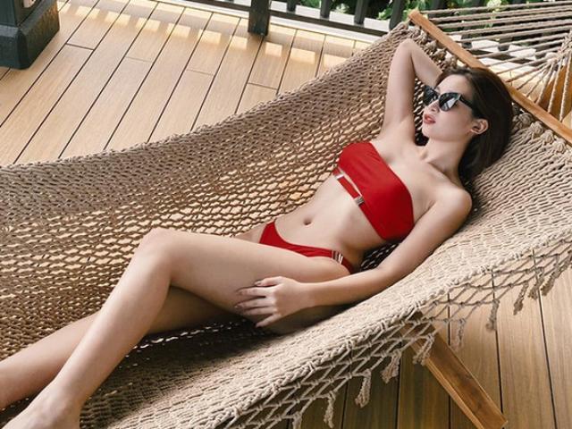 """Diện bikini khoe dáng thon, hoa hậu Đỗ Mỹ Linh hài hước: """"đã hóp bụng"""""""