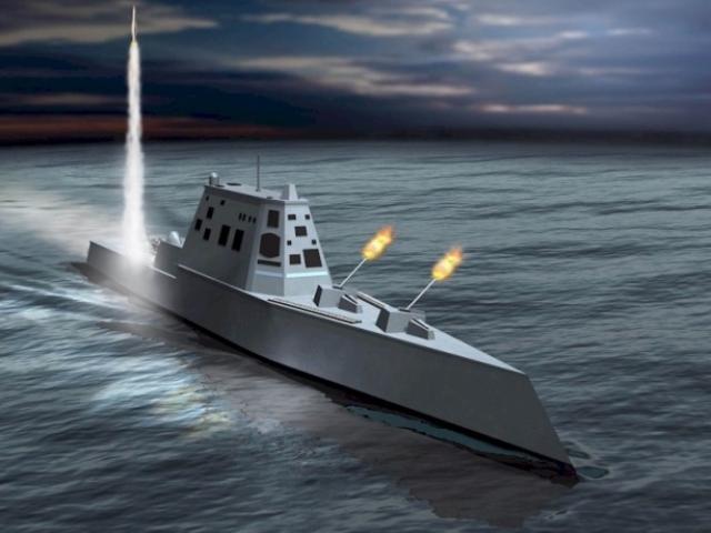 So tài tàu khu trục mạnh nhất TQ với siêu hạm Zumwalt Mỹ