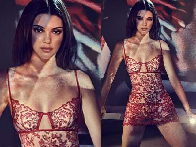 Kendall Jenner quyến rũ ngây ngất với nội y xuyên thấu