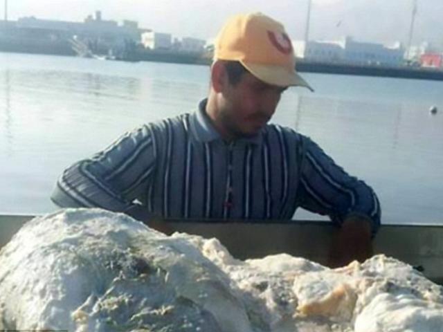 Kéo lưới vớ được tảng chất nôn cá voi giá 57 tỷ đồng