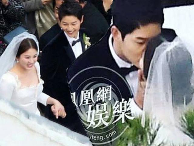 Song Joong Ki hôn say đắm Song Hye Kyo trong hôn lễ thế kỷ
