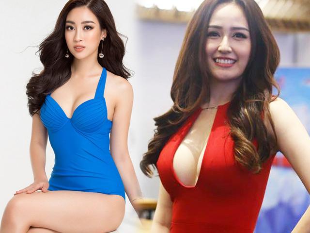 """""""Bóc"""" số đo vòng 1 thật sự của Mai Phương Thúy, Đỗ Mỹ Linh"""
