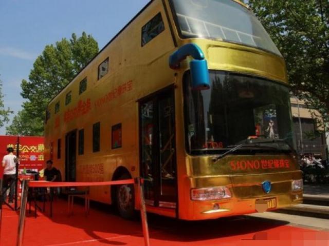 Không chỉ Dubai, châu Á cũng có xe buýt mạ vàng 17 tỷ, toàn bộ tay cầm bằng vàng