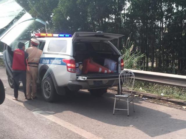 CSGT bị xe đâm nguy kịch khi làm nhiệm vụ trên cao tốc